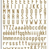 Rub-ons alphabet marron