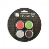 Poudre de flocage – Vert, rouge, gris et brun