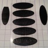 Pastilles velcro adhésives noires