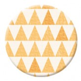 Badge jaune – Collection « Crochetin' »