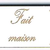 Bouton étiquette «Fait maison»