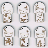 Série boutons «Kokeshi»