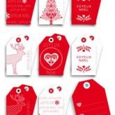 Étiquettes Noël scandinave