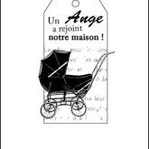 Étiquette naissance : un ange