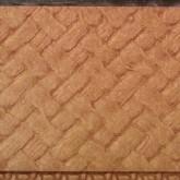 Papier tissé marqué adhésif 300×300 mm teck