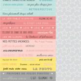 Planche d'étiquettes «primavera dymo»