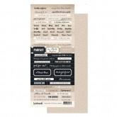 Planche d'étiquettes Ginza