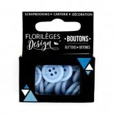 Boutons «Bleu acier»