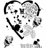 Pochoir «Parfum de roses»