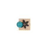 Fleur brodée noire