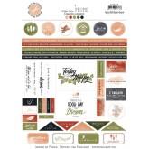 Étiquettes à découper – Collection «Plume»