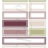 Étiquettes rectangles