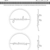 Matrice de découpe Mots en cercle 2