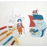 Cartes anniversaire «Pirates»