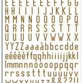 Rub-ons alphabet marron