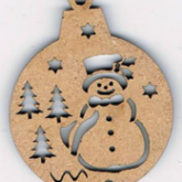 Bouton mini boule de Noël – Bonhomme de neige