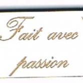 Bouton étiquette «Fait avec passion»