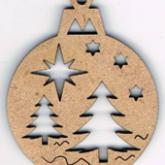 Bouton mini boule de Noël – Sapin